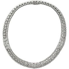 Preowned Cartier London Three Row Diamond Gold Necklace ($97,000) ❤ liked on Polyvore featuring jewelry, necklaces, multiple, yellow gold diamond necklace, cartier jewelry, gold jewellery, yellow gold jewelry and gold necklace