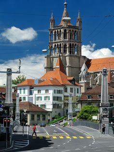 Pont Charles-Bessières, Lausanne, Switzerland P.S Where I grew-up! Lausanne, Adventure Awaits, Adventure Travel, Pont Charles, Zermatt, Travel Around The World, Around The Worlds, Lugano, Switzerland Bern