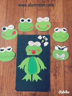 Imagem - Educação Infantil - Aluno On Frog Activities, Creative Activities For Kids, Kindergarten Activities, Emotions Preschool, Preschool Crafts, Animal Projects, Animal Crafts, Kids Crafts, Frog Theme
