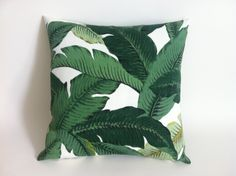 One Outdoor Deep Green Tropical Zipper Pillow Cover by Pillomatic