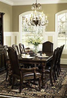 bernhardt formal dining room set 317 542drset - Living Room And Dining Room Sets