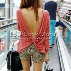 Women Sexy Long Sleeved Ruched Wrap Draped V-back Backless T-Shirt T Shirt Top en vente sur eBay.fr (fin le 11-déc.-12 05:49:19 Paris)