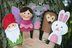 personajes del bosque gnomo, hada, ratón, erizo, conejo