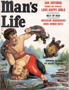 Man's Life, May 1957. Cover By Will Hulsey