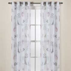 Travelouge Multi Sheer Grommet Window Curtain Panels