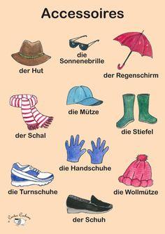 Poster (A3) - Accessoires (German)