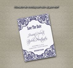 DIY Printable Wedding Save The Date PDF  by MyPrintableCreations, $12.00