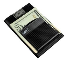 Kore Slim Leather Wallet | RFID Blocking & Carbon Fiber Money Clip