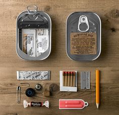 Survival Kit In A Can | image: Restoration Hardware) Survival Kit in a Sardine Can | US$15.00 ...