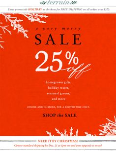 12.13.12 A very merry sale at Terrain.