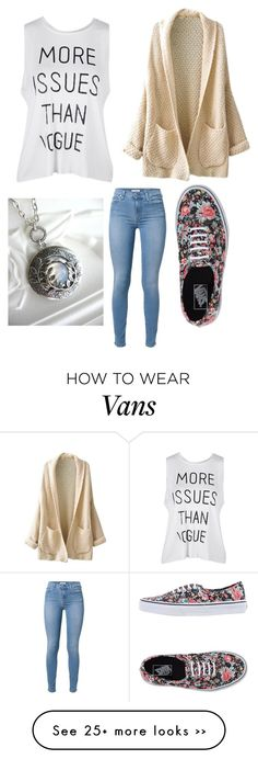 """Back to school"" by cutiepie40166 on Polyvore featuring Vans and 7 For All Mankind"