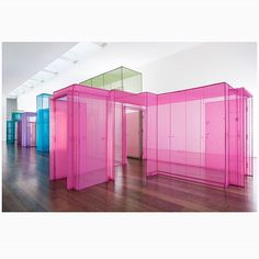WEBSTA @ thespacesmag - In his new exhibition 'Passage/s', artist Do Ho Suh has created an ethereal fabric corridor at London's @victoriamirogallery, modelled on sections of his homes and studios around the world. Each segment of the installation, meticulously stitched in brightly coloured polyester fabric, represents a linking point or 'hub' within its respective building.Discover more on The Spaces.com.Photo: Thierry Bal. Courtesy the Artist.
