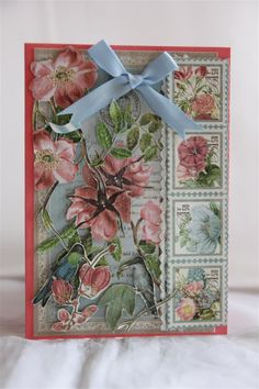 Lots of fussy fussy cutting on this one! Graphic 45 Botanical Tea paper collection, ribbon , lace and kindyglitz. the cardstock is by stampin up.Today I picked up my graphic 45 by the sea paper so ...