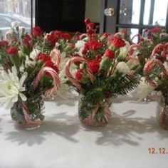 Small Christmas centerpieces
