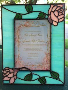 Wedding invitation in photo frame