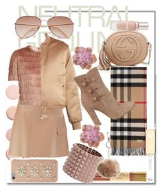 """Neutral's vibes"" by chicbluemarty ❤ liked on Polyvore featuring Fine & Candy, MSGM, Raey, Givenchy, Valentino, Gucci, MICHAEL Michael Kors, Burberry, Gianvito Rossi and Topshop"
