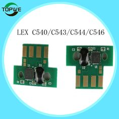 C540 toner chips for Lexmark C540 C543 C544 C546 X543 X544 X546 X548 toner cartridge  BK 2.5K ,Color 2K