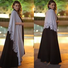 "OC Fashion Design on Instagram: ""Good morning my dear lady's ! You are ready for EID ? Abaya Cape by OC fashion design coming with black dress under ."""