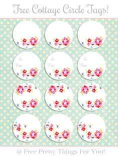 Labels: Free Cottage Circle Tags