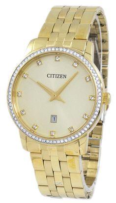 Diamond Accent Men's Watch Stainless Steel Bracelet, Stainless Steel Case, Rolex Watches, Watches For Men, Citizen Watches, Watch Sale, Watches Online, Gold Watch, Swarovski Crystals