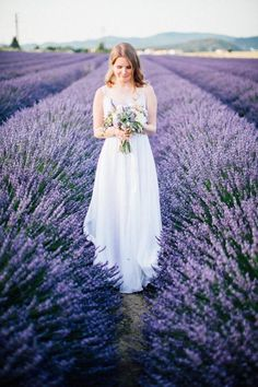 Amazing Lavender Fields Real Wedding                                                                                                                                                                                 More