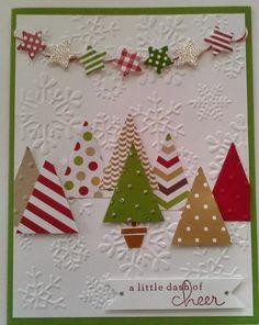 weihnachtskarten basteln mit papier