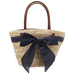 Primark SS12 Straw Bow Bag | Look, found on polyvore.com