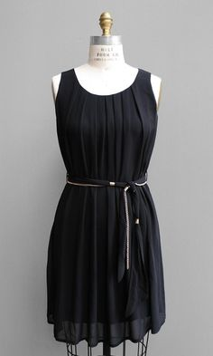 Chain-Belted Pleat Dress http://www.shopsubstance.com/