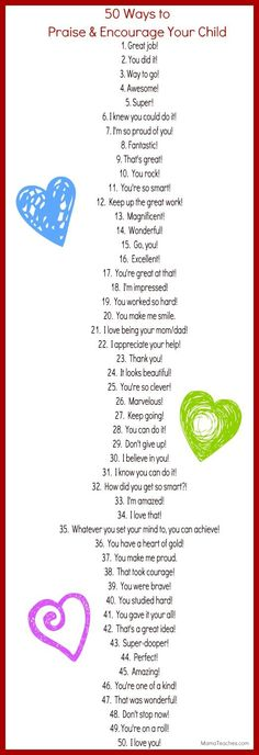 50 Ways to Praise and Encourage Your Child