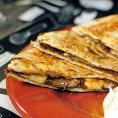 Banana Nutella Quesadillas #nutella #breakfast #recipe