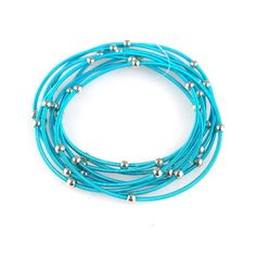 Amazon.com: Dark Turquoise Guitar String Bracelets - Set of 9: Guitar String Bracelets: Jewelry