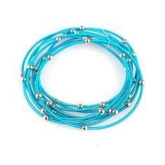 Amazon.com: Dark Turquoise Guitar String Bracelets - Set of 9: Guitar String Bracelets: Jewelry