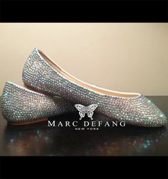 AB crystal sweet little lovely FLATS by Marc Defang by MDNY, $109.00