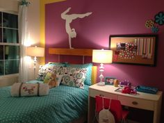 Enclave Boca unit in Orlando, FL Gymnastic themed girl's room