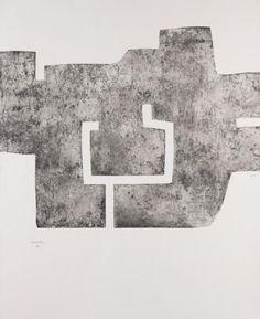 Eduardo Chillida. Euzkadi IV. 1976. Eau-forte. 160 x 115 cm (115 x 88 cm). 50 ex. Van der Koelen 76001
