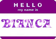 BiAnCa Name Boards, Hello My Name Is, Calm Down, Just Me, To My Daughter, Things To Think About, Names, Thoughts, Cute Names