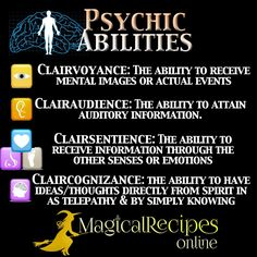 Magical Recipies Online | Psychic abilities: How to recognise them and develop them further