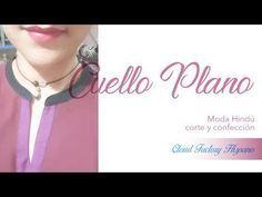 How to make a round neckline. Collar Kurti Design, Kurti Neck Designs, Kurti Patterns, Dress Sewing Patterns, Collar Pattern, Neck Pattern, High Neck Saree Blouse, Stitching Classes, T Shirt Tutorial