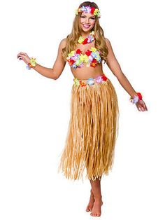 #Ladies hawaii #party girl 5pc costume outfit for hawaiian fancy dress #womens ne, View more on the LINK: http://www.zeppy.io/product/gb/2/351650767190/