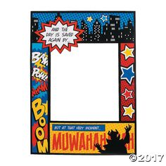 Superhero Comic Book Photo Prop Are you hosting a superhero theme party and looking for a fun way of putting the spotlight on your guests of honor? Look no further than this Superhero Comic . Adult Superhero Party, Superhero Photo Booth, Superhero Party Supplies, Superhero Party Decorations, Superhero Halloween, Superhero Birthday Party, Superhero City, Super Hero Decorations, Superhero Cutouts