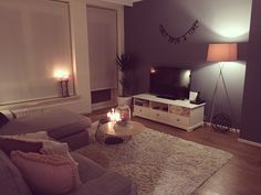 #grey #pink #livingroom #cozy