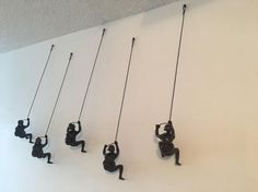 5 Piece Climbing Sculpture Wall Art Gift For Home Decor