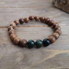 BC Canadian Jade x Wenge Wood bracelet by EssennzDesigns on Etsy Rose Gold Anklet, Wenge Wood, Wood Bracelet, White Agate, Bracelet Making, Jade, Handmade Items, Bracelets, Etsy