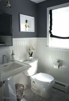 White and black restroom