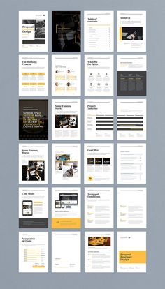 How To Start A Business Discover Modern and edgy business proposal brochure with minimalist layouts and bold graphic style. Perfect as a portfolio look book or other marketing presentation. Brochure Indesign, Template Brochure, Design Brochure, Brochure Layout, Adobe Indesign, Flyer Template, Page Layout Design, Magazine Layout Design, Book Layout