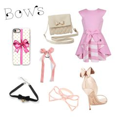 """""""bows bows bows!!,"""" by itsjustnyah on Polyvore featuring Jessie & James London, Sophia Webster, Charlotte Russe, Casetify, Cara, COS and Ted Baker"""