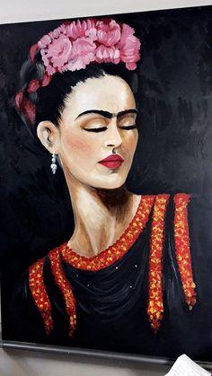 frida kahlo portrait made by mizael huerta Frida Kahlo Artwork, Frida Paintings, Frida Kahlo Portraits, Frida Art, Frida And Diego, Mexican Art, Painting Inspiration, Amazing Art, Folk Art