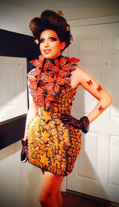 Beautiful butterflies / karen cox. Capitol Couture Effie Trinket McQueen Butterfly Dress