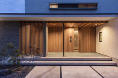 五日市の家 | WORKS WISE 岐阜の設計事務所 Entrance Lighting, Entrance Decor, Entrance Design, House Entrance, Door Design, Exterior Design, House Design, Japanese Interior Design, Interior Design Images