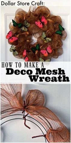 How to Make a Deco Mesh Wreath   eBay
